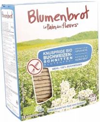 Blumenbrot - Le Pain des Fleurs Knusprige Bio Schnitten Buchweizen ohne Zusatz von Salz und Zucker 150g