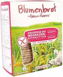 Blumenbrot - Le Pain des Fleurs Knusprige Bio und glutenfrei Mehrkorn Schnitten 150g