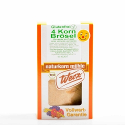 Naturkorn Mühle Werz 4-Korn Vollkorn Brösel glutenfrei 200g