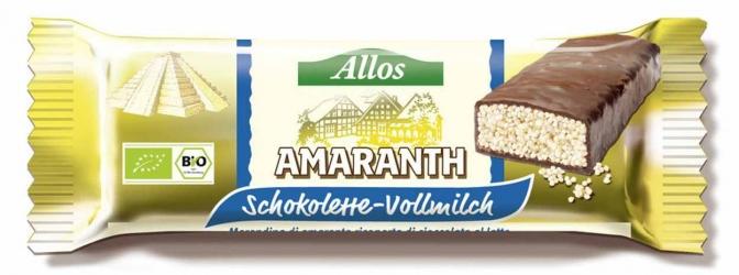 Allos Amaranth Schokolette Vollmilch 25g