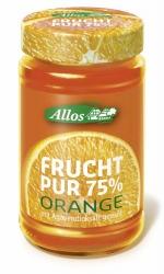 Allos Frucht Pur 75% Orange 250g