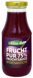 Allos Frucht Pur 75% Fruchtsauce Amarenakirsche 250ml