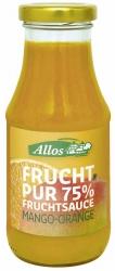 Allos Frucht Pur 75% Fruchtsauce Mango-Orange 250ml