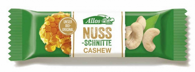 Allos Nuss Schnitte Cashew 30g