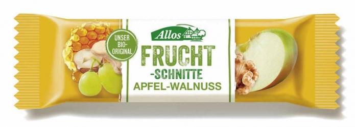 Allos Fruchtschnitte Apfel Walnuss 30g