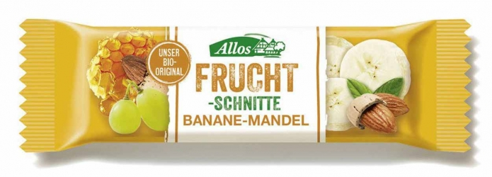 Allos Fruchtschnitte Banane Mandel 30g