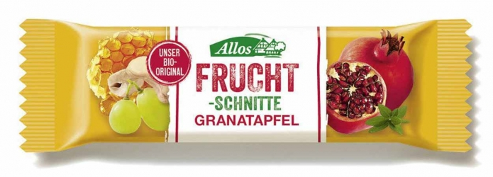 Allos Fruchtschnitte Granatapfel 30g