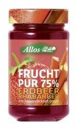 Allos Frucht Pur 75% Erdbeere-Rhabarber 250g