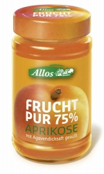Allos Frucht Pur 75% Aprikose 250g