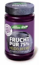 Allos Frucht Pur 75% Heidelbeere 250g