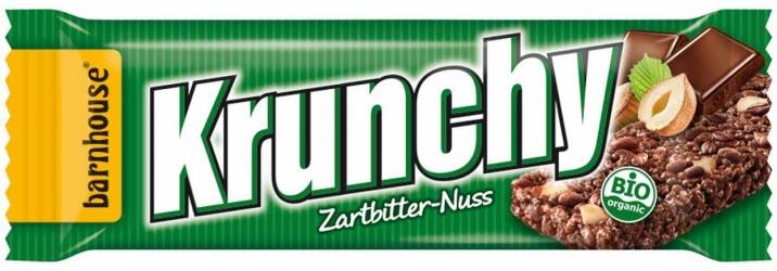 Barnhouse Krunchy Riegel Zartbitter Nuss 30g