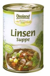 Ökoland Linsensuppe mit Würstchenscheiben 400g