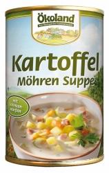 Ökoland Kartoffel-Möhren Suppe mit Schinkenwürfeln 400g
