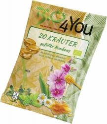 Bio4You Bio-Bonbon 20-Kräuter gefüllt 75g