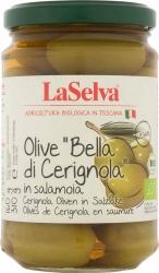 """LaSelva Oliven """"Bella di Cerignola"""" extra große grüne Oliven 310g"""