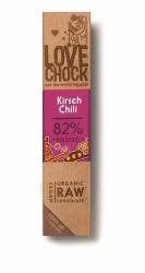 Lovechock Bio Zartbitterschokolade Kirschen und Chili 40g