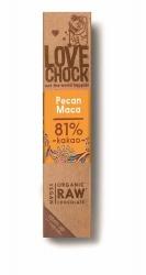 Lovechock Bio Zartbitterschokolade mit Pecan-Maca 40g