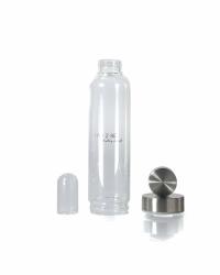 IAM2BE'CRYSTAL© Trinkflasche Classic 550ml (Edelstahl Verschluss)
