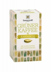 Sonnentor Grüner Kaffee Kardamom Bio Doppelkammerbeutel 18x3g