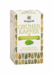 Sonnentor Grüner Kaffee Pfefferminze Bio Doppelkammerbeutel 18x3g