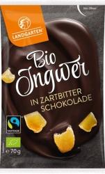 Landgarten Bio Ingwer in Zartbitter Schokolade  70g