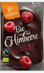 Landgarten Bio Himbeere in Zartbitter Schokolade 50g