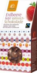 Landgarten Bio Erdbeere liebt Vollmilch Schokolade 90g