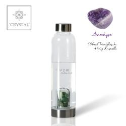 IAM2BE'CRYSTAL© Trinkflasche Classic 550ml + Amethyst (50g)