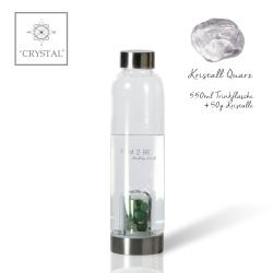 IAM2BE'CRYSTAL© Trinkflasche Classic 550ml + Kristall Quarz (50g)