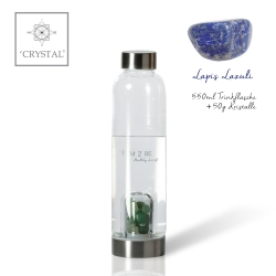 IAM2BE'CRYSTAL© Trinkflasche Classic 550ml + Lapis Lazuli (50g)