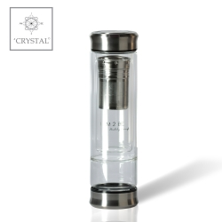IAM2BE'CRYSTAL© Trinkflasche Tea 350ml (Edelstahl Verschluss)